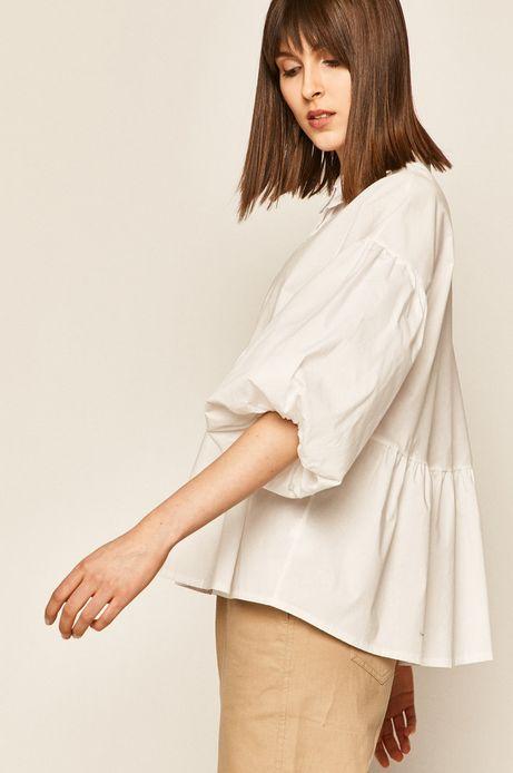 Koszula damska z bufiastymi rękawami biała
