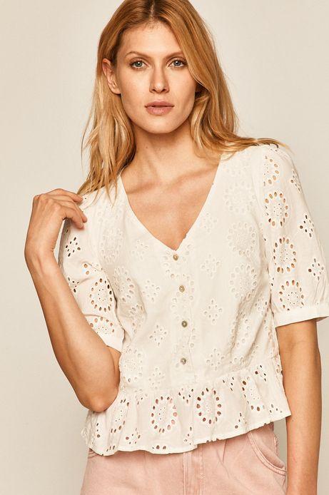 Bluzka damska ażurowa biała