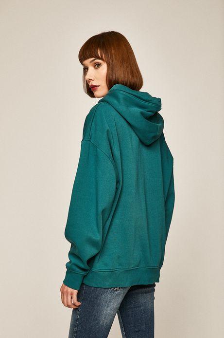 Bluza damska z kapturem turkusowa