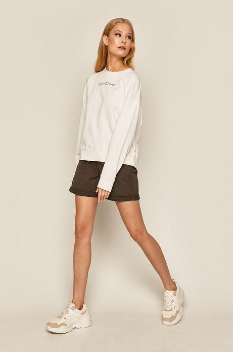 Bluza damska z nadrukiem biała