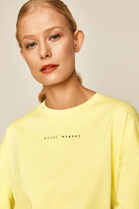 Bluza damska z nadrukiem żółta