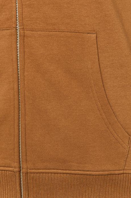 Bluza męska z kapturem brązowa