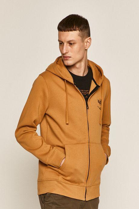 Bluza męska z nadrukiem na plecach żółta