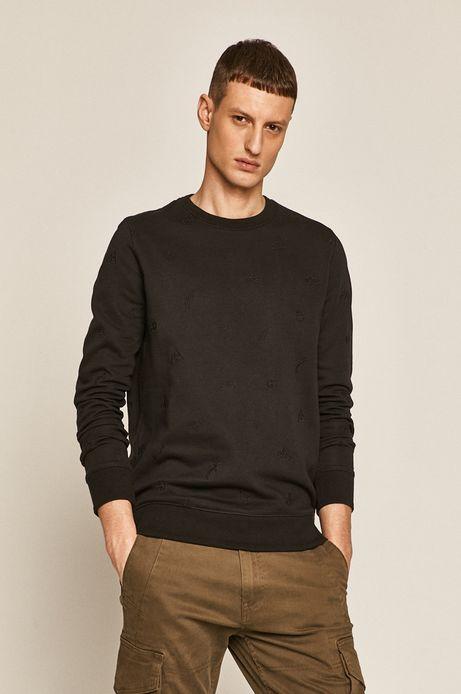 Bluza męska z aplikacją czarna