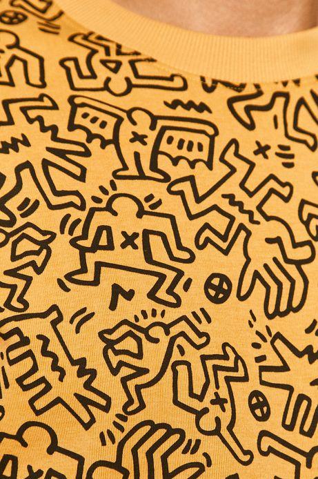 Bluza męska by Keith Haring żółta