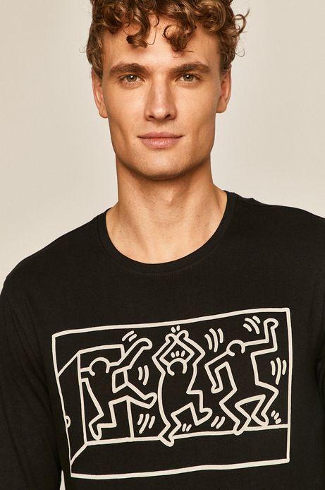 Longsleeve męski by Keith Haring czarny