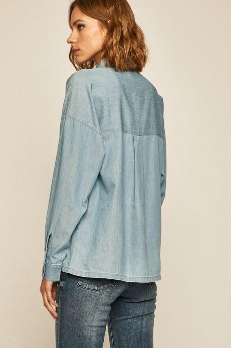 Koszula damska jeansowa niebieska