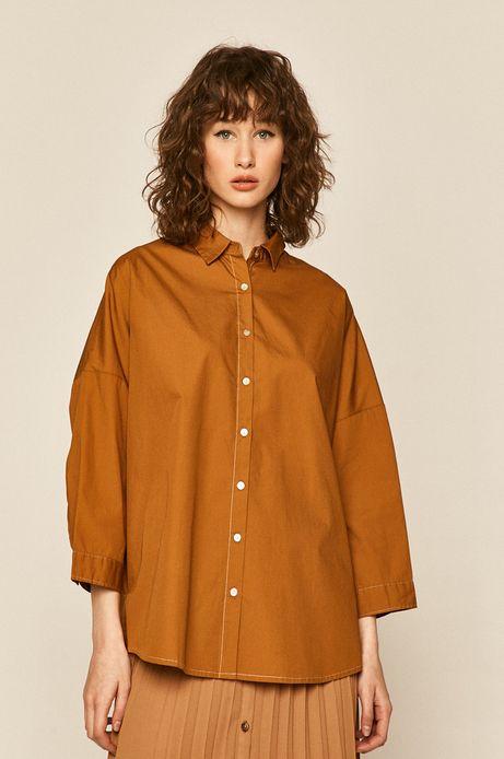 Koszula damska z bawełny organicznej żółta