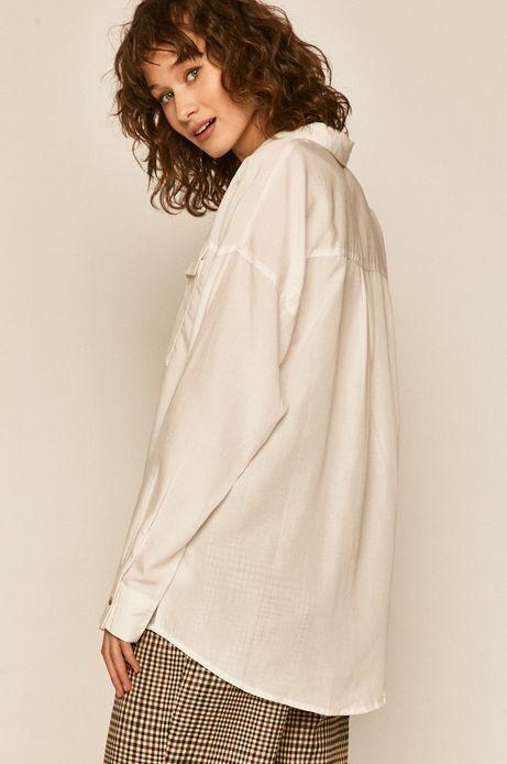 Koszula damska z domieszką lnu biała
