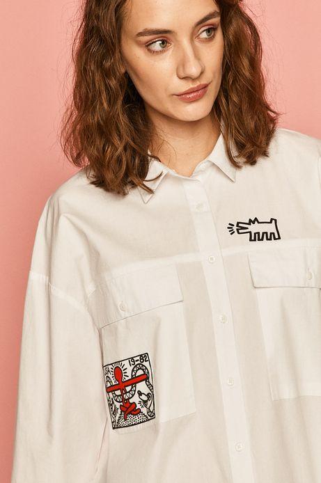 Koszula damska by Keith Haring biała