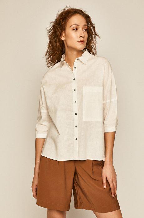 Koszula damska z bawełną organiczną biała