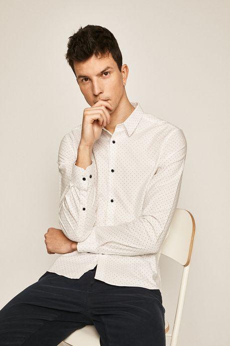 Koszula męska w kropki biała