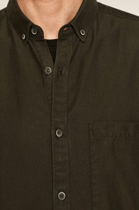 Koszula męska z Tencelem zielona