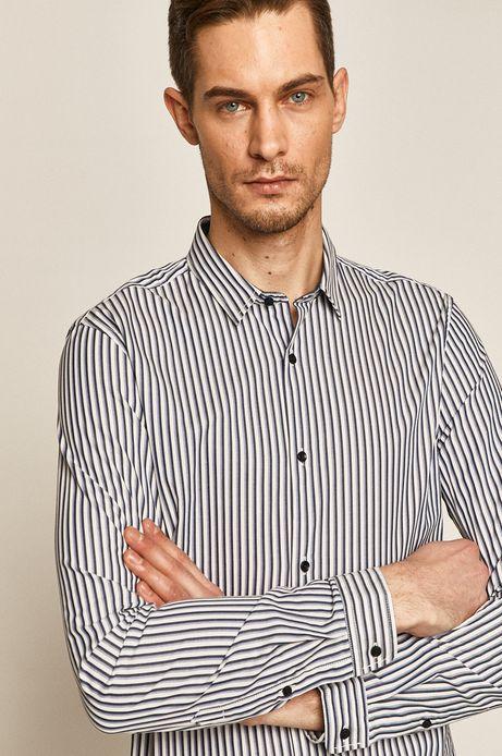 Koszula męska comfort slim w paski biała