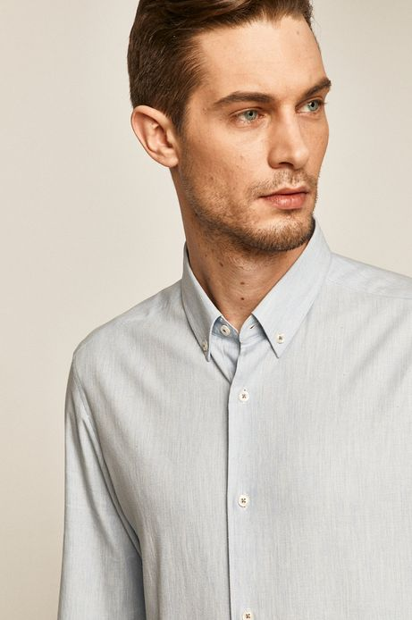 Koszula męska comfort slim niebieska