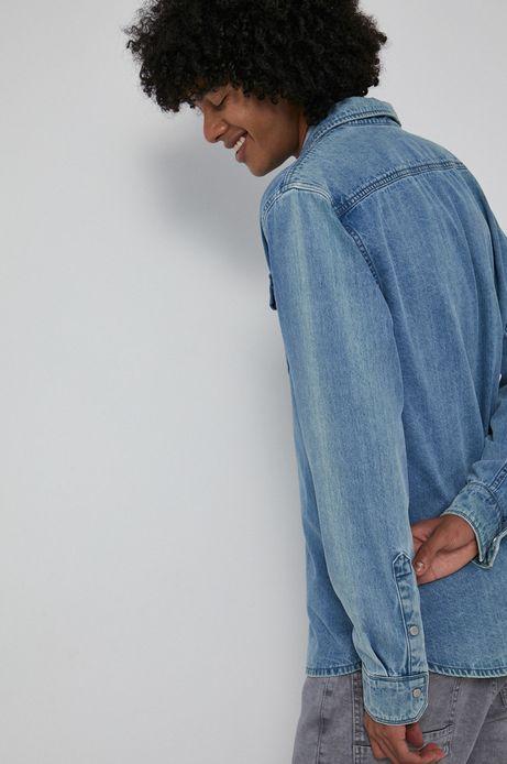 Koszula męska jeansowa niebieska