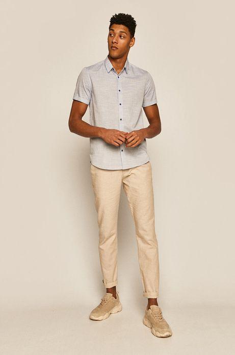 Koszula męska z bawełny organicznej niebieska