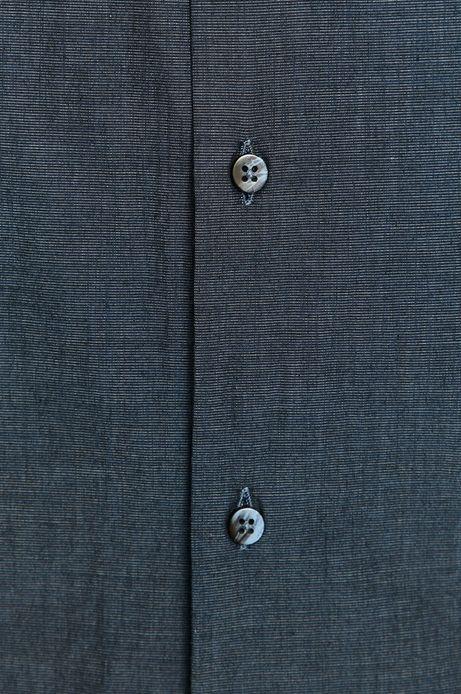 Koszula męska z bawełny organicznej granatowa