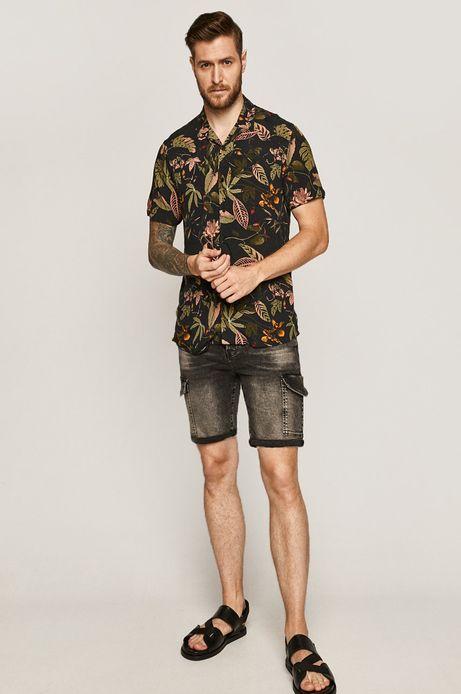 Koszula męska wzorzysta czarna