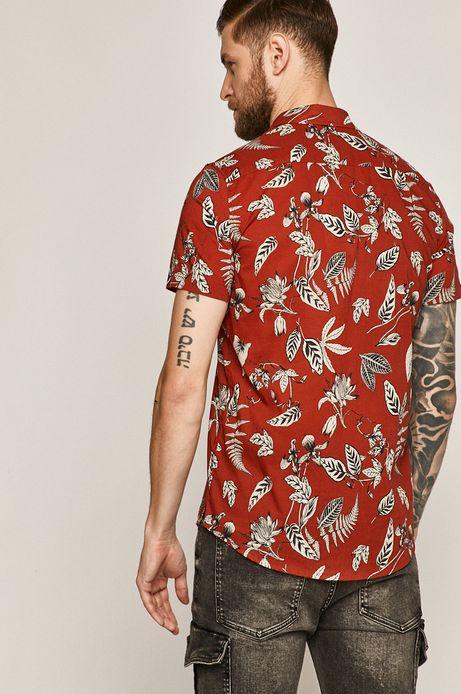 Koszula męska wzorzysta czerwona