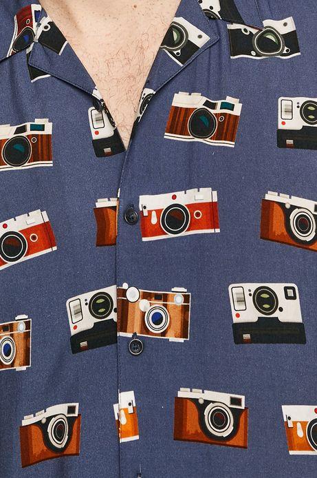 Koszula męska wzorzysta niebieska