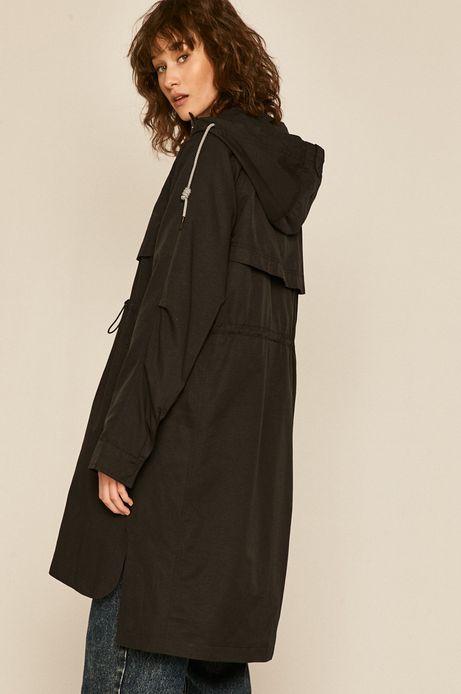 Płaszcz damski na podszewce czarny