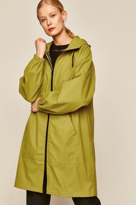 Przeciwdeszczowy płaszcz damski na podszewce oliwkowy