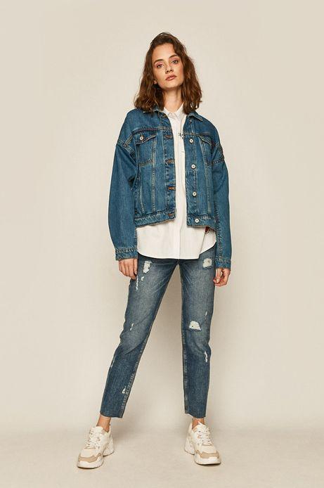 Kurtka damska jeansowa granatowa