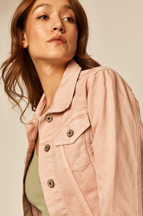 Kurtka damska jeansowa różowa