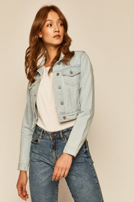 Kurtka damska jeansowa niebieska