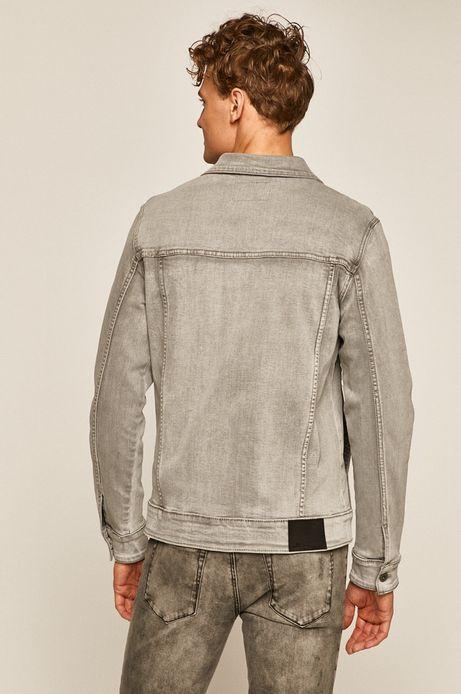 Kurtka jeansowa męska szara