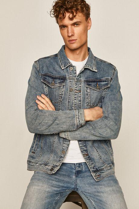 Kurtka jeansowa męska niebieska