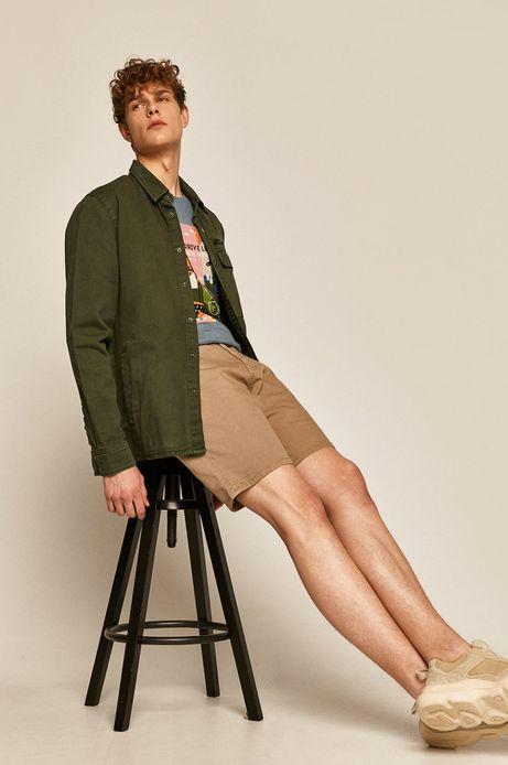 Kurtka męska jeansowa zielona