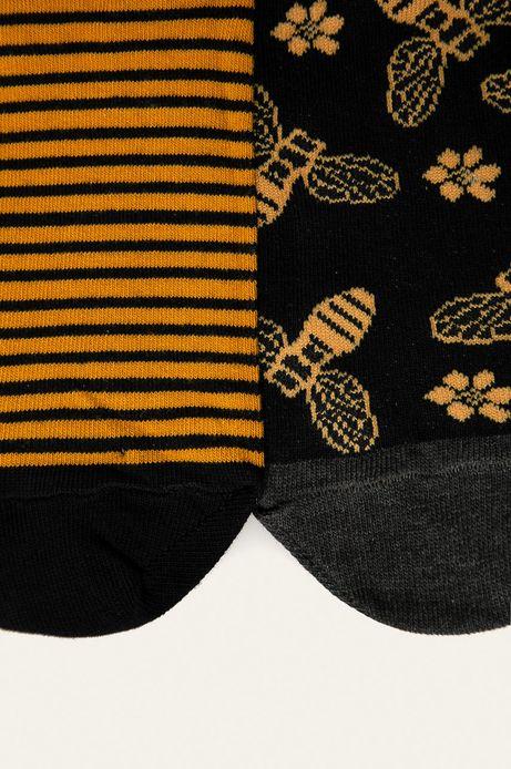 Skarpetki damskie w pszczoły (2-pack)