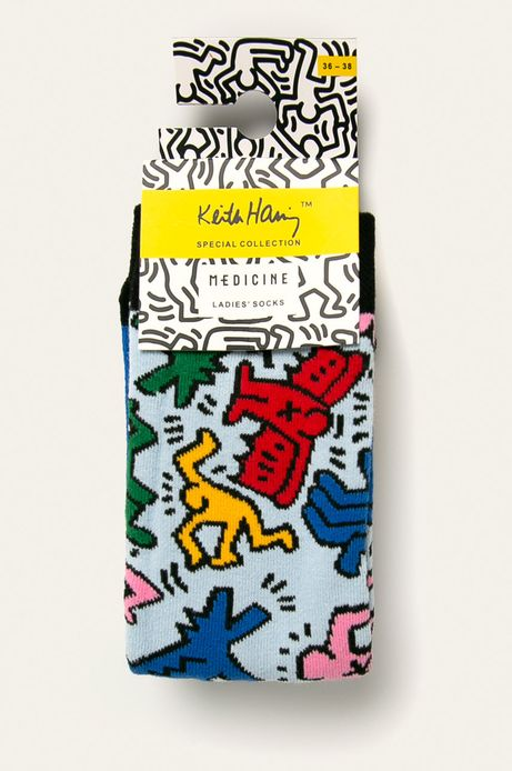 Skarpetki damskie by Keith Haring (2 pack)