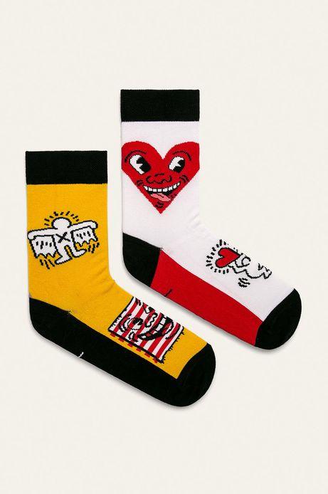 Skarpetki damskie by Keith Haring (2-pack)