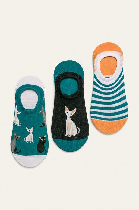 Stopki damskie w koty (3-pack)
