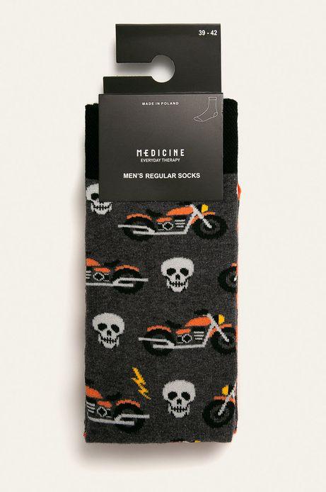 Skarpetki męskie w motocykle i czaszki (2-pack)