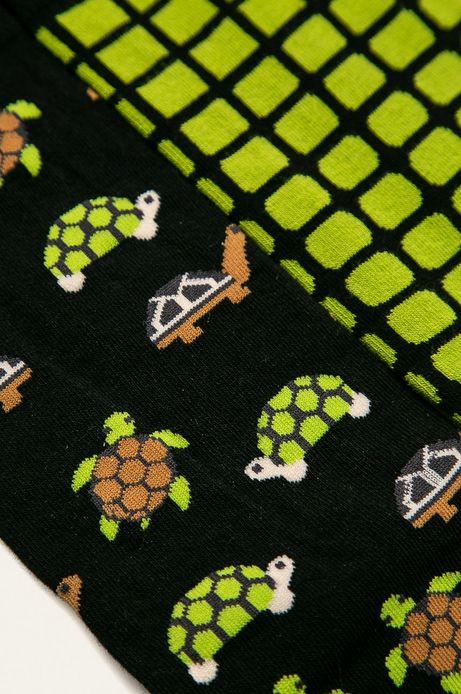 Skarpetki męskie w żółwie (2-pack)