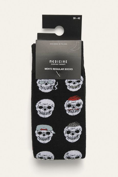 Skarpetki męskie w czaszki (2-pack)