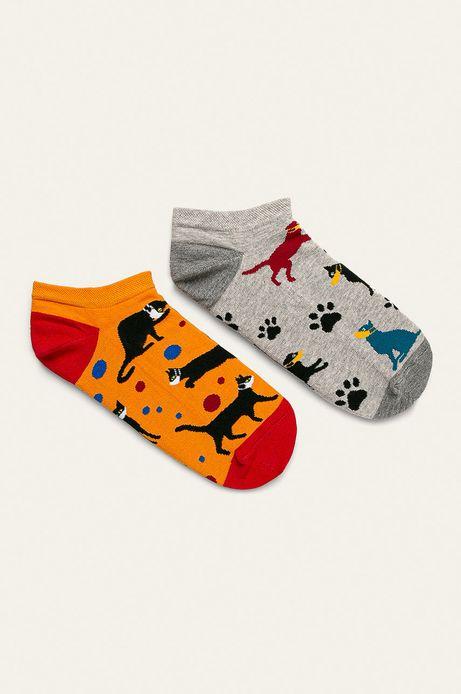 Stopki męskie w psy i koty (2-pack)