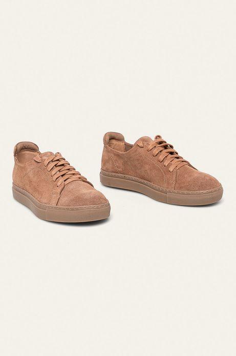 Buty skórzane damskie różowe
