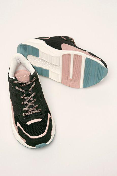 Buty damskie na grubej podeszwie czarne