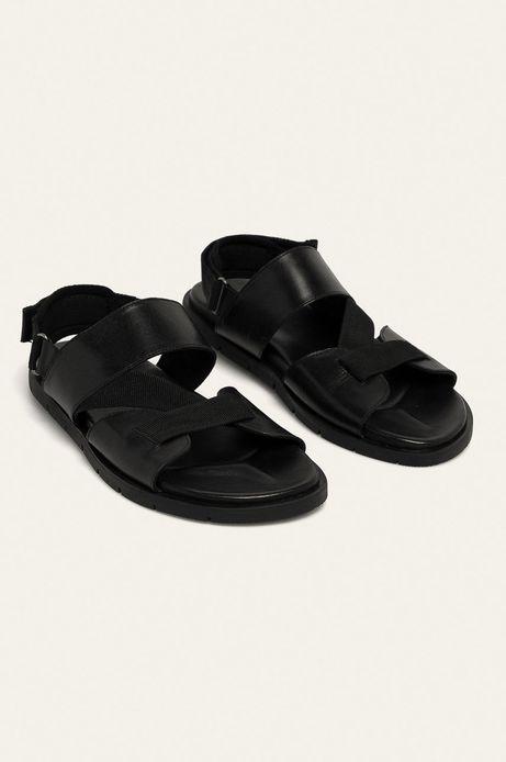 Skórzane sandały męskie czarne