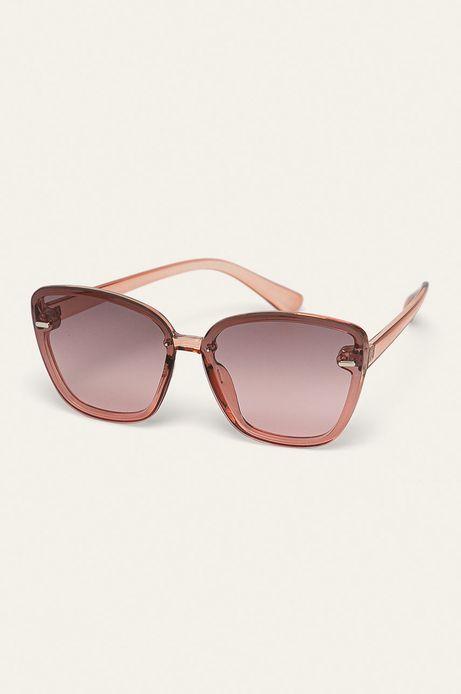 Okulary przeciwsłoneczne damskie w kwadratowej oprawie różowe