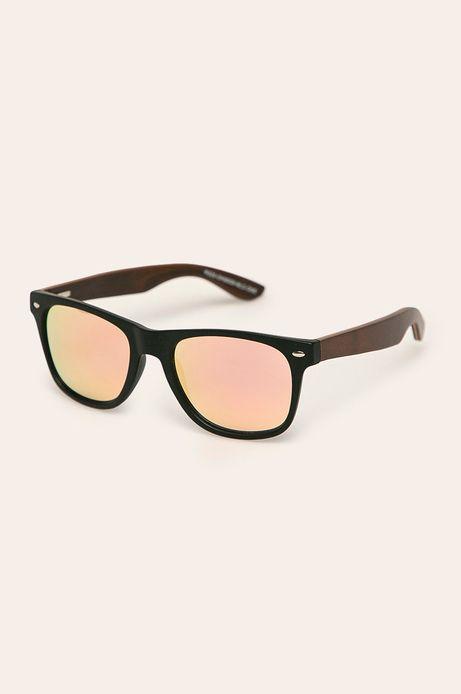 Okulary przeciwsłoneczne męskie z drewnianymi zausznikami z funkcją flexible