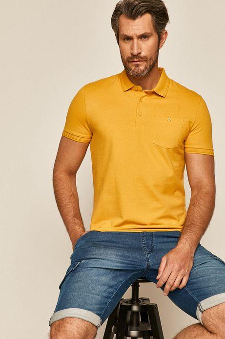 Polo męskie gładkie żółte
