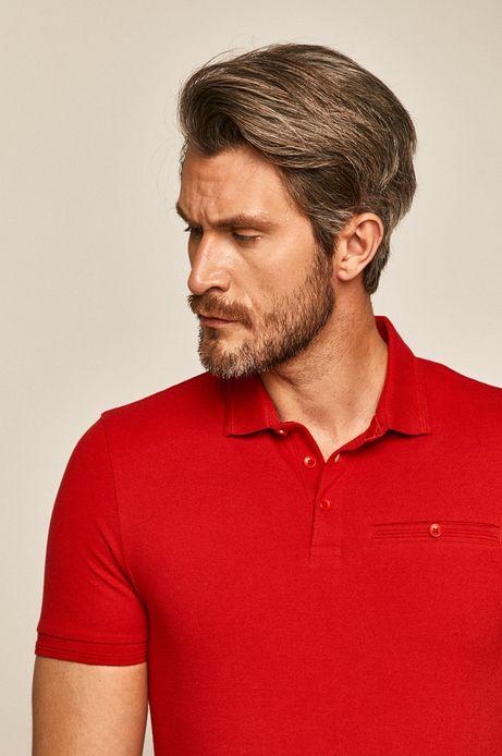 Polo męskie czerwone