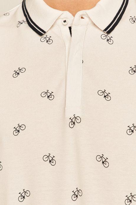 Polo męskie w rowery białe
