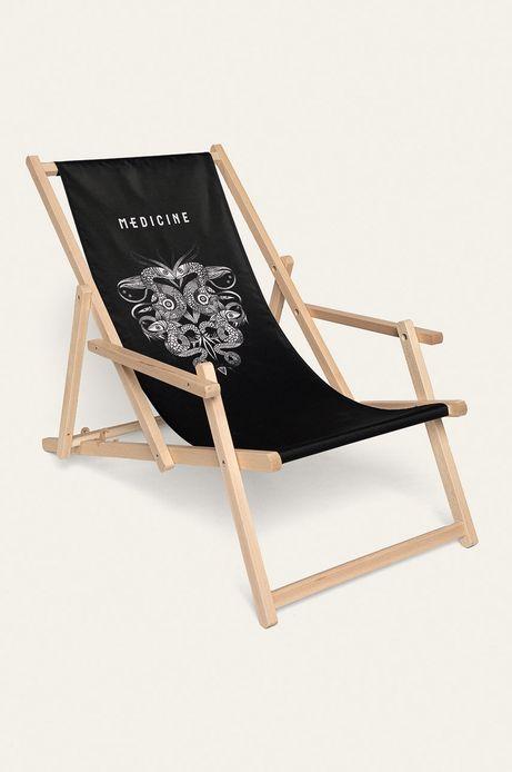 Leżak plażowy Tattoo Konwent czarny